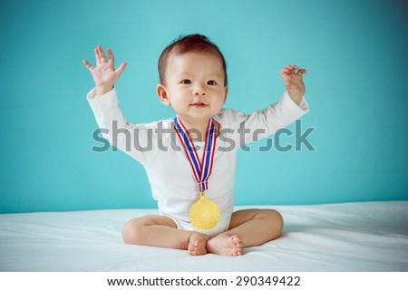 The baby winner - stock photo