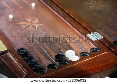 The backgammon Competition game - stock photo
