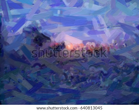 Background Brushstrokes Oil Paint Different Colors Stock