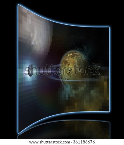 the background of the cosmos - stock photo