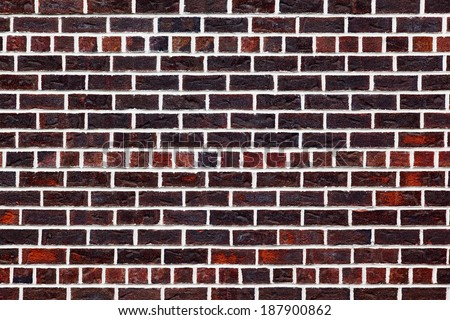 the background of the old red brick wall