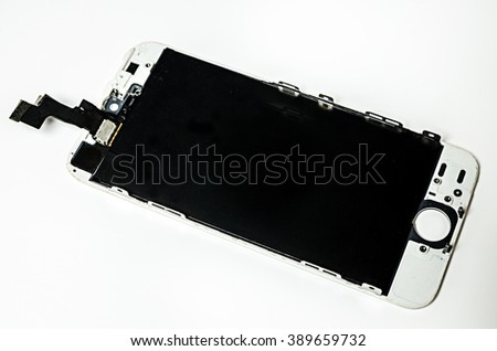 The background of the screen display with beautiful images. - stock photo