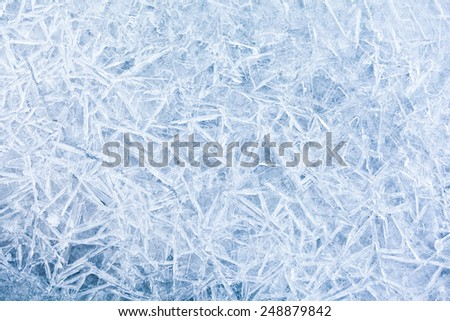 The background texture of blue ice. Icy pattern - stock photo