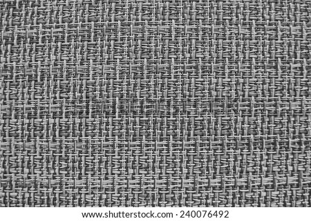 The background texture. Wicker vinyl. Black-and-white. - stock photo