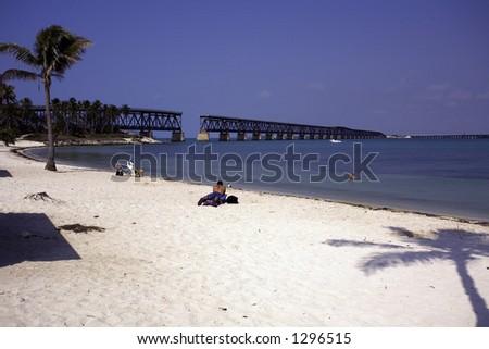 The Bahia Honda State Park, Florida - stock photo
