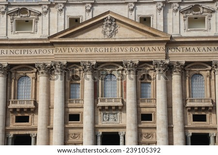 The balcony of the  peter domes - stock photo