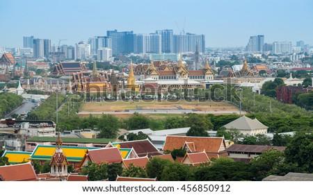 The Bangkok skyline and cityscape of Bangkok the capital cities of Thailand. - stock photo