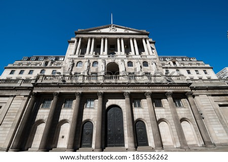 The Bank of England in London - stock photo
