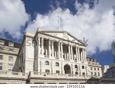 The Bank of England in London UK - stock photo
