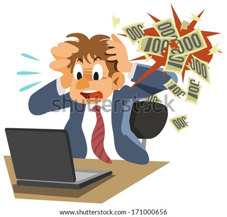 The bankruptcy - stock photo