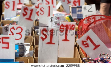The Bargain spot at a flea market - stock photo