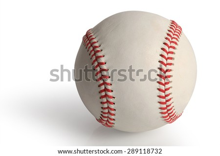 The Baseball ball standard hard cork inner size isolated on white background. This has clipping path. - stock photo