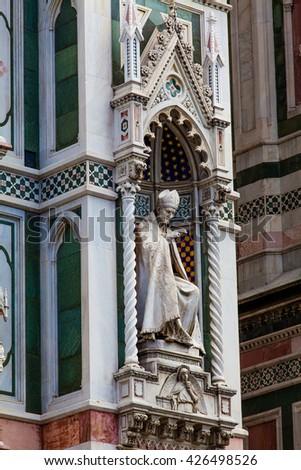 The Basilica di Santa Maria del Fiore  in Florence, Italy - stock photo