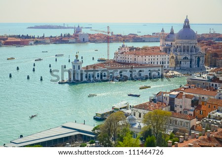The Basilica di Santa Maria della Salute, Venice, Italy - stock photo