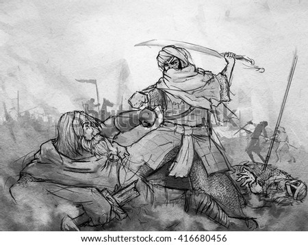 The Battle between Viking and Persian
