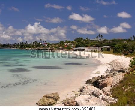The bay of Coco Beach / Aruba - stock photo