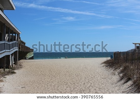 The beach - stock photo