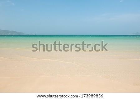 The beach at Similan island , Phuket Thailand - stock photo