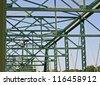 The beam of an old bridge in NJ - stock photo