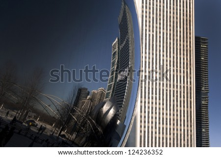 the Bean in Chicago - stock photo