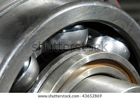 The bearing on the shaft - stock photo
