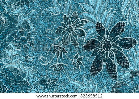 The beautiful and colorful of art Malaysian and Indonesian Batik Pattern