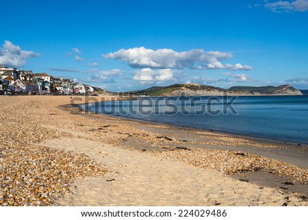 The beautiful beach at Lyme Regis Dorset England UK Europe
