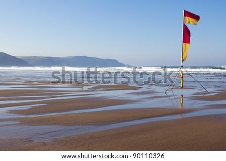 The beautiful beach at Widemouth Bay near Bude Cornwall England UK - stock photo