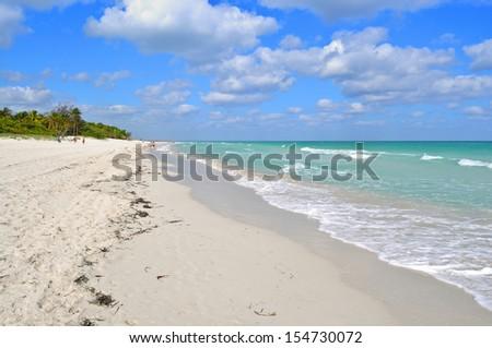The beautiful beach of Varadero, Cuba - stock photo