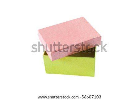 The beautiful box is isolated on a white background