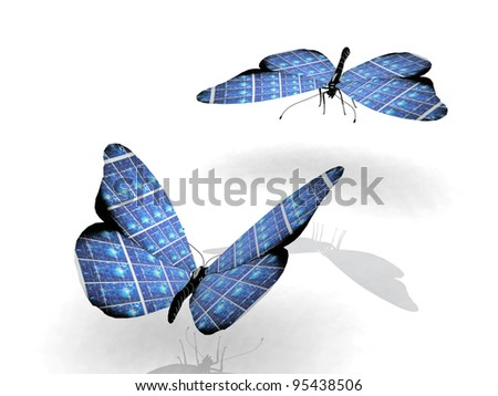 the beautiful butterfly with wings - stock photo