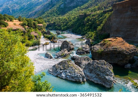 The beautiful canyon of Montenegro, the Balkans - stock photo