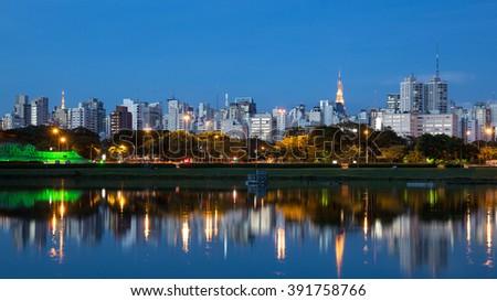 The beautiful city of Sao Paulo - stock photo