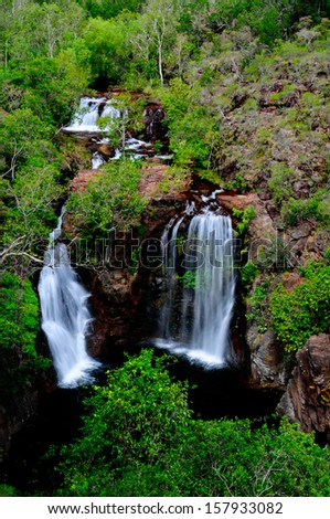 The beautiful Florence Falls in Litchfield National Park - stock photo