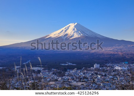 The beautiful Fuji mountain.