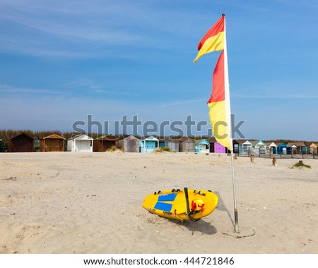 The beautiful golden sandy beach at West Wittering West Sussex England UK Europe