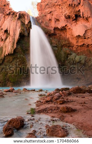 The Beautiful Havasu Falls, Havasupai, Arizona - stock photo