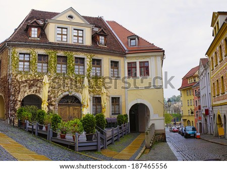 The beautiful house in old city of Goerlitz, Germany