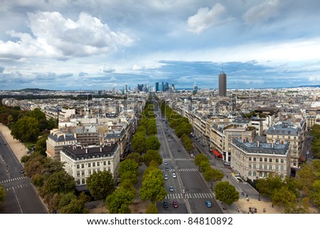 The beautiful landscape of Paris city, France