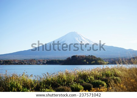 The beautiful mount Fuji in Japan                                 - stock photo