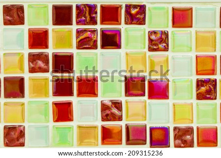 The beautiful of a aged mosaic background. - stock photo