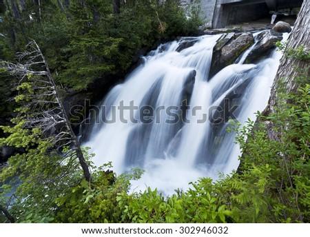 The beautiful paradise falls at mount rainier - stock photo