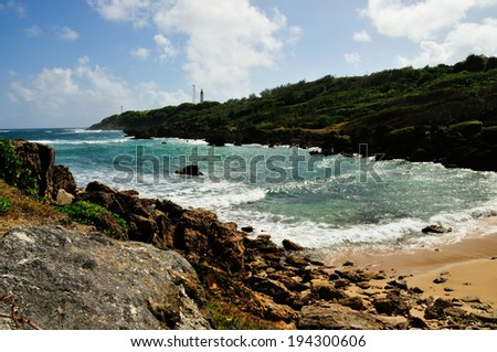 The beautiful rocky Coast line found at Bottom Bay Barbados