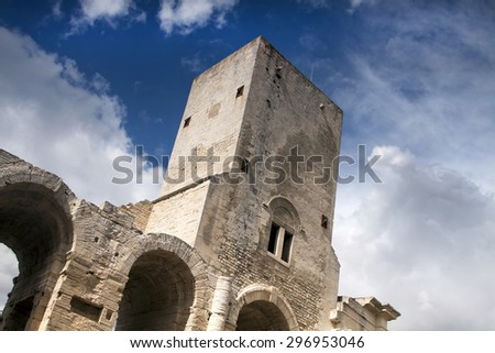 The beautiful Roman Arena in Arles, France  - stock photo