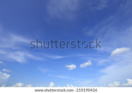 The beautiful sky with clouds. - stock photo
