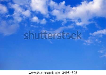 The beautiful sky with clouds. Welcome! More similar images available. - stock photo