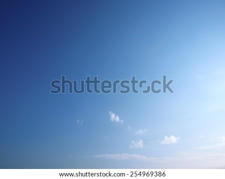The beautiful sky with white clouds.  - stock photo