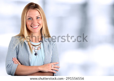 The Beautiful smiling business woman  portrait. - stock photo