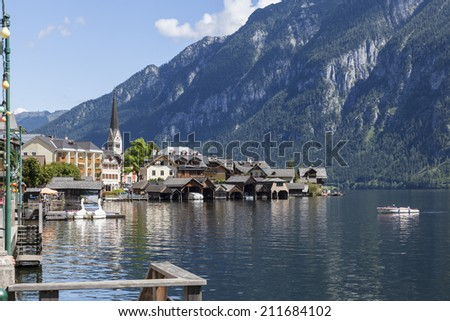The beautiful town of Hallstatt in Austria.