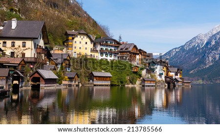 The beautiful town of Hallstatt in Austria